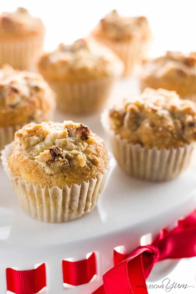 Low Carb Muffins With Vanilla Bean & Walnuts (Paleo, Gluten-Free) from Wholesome Yum