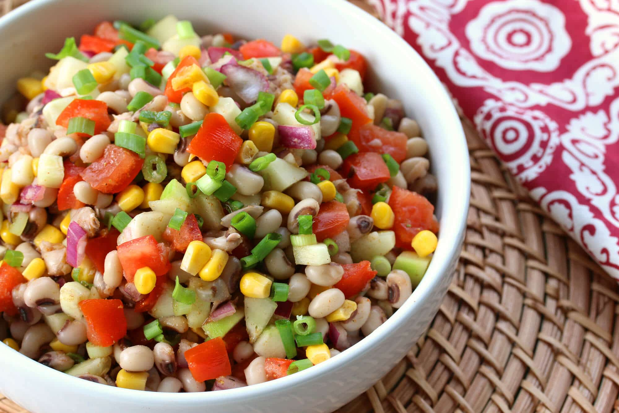 Southern Black-eyed Pea Salad from Daring Gourmet