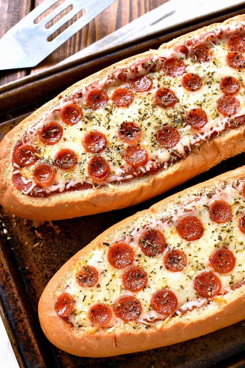 Stuffed Pepperoni Pizza Bread from Lemon Tree Dwelling