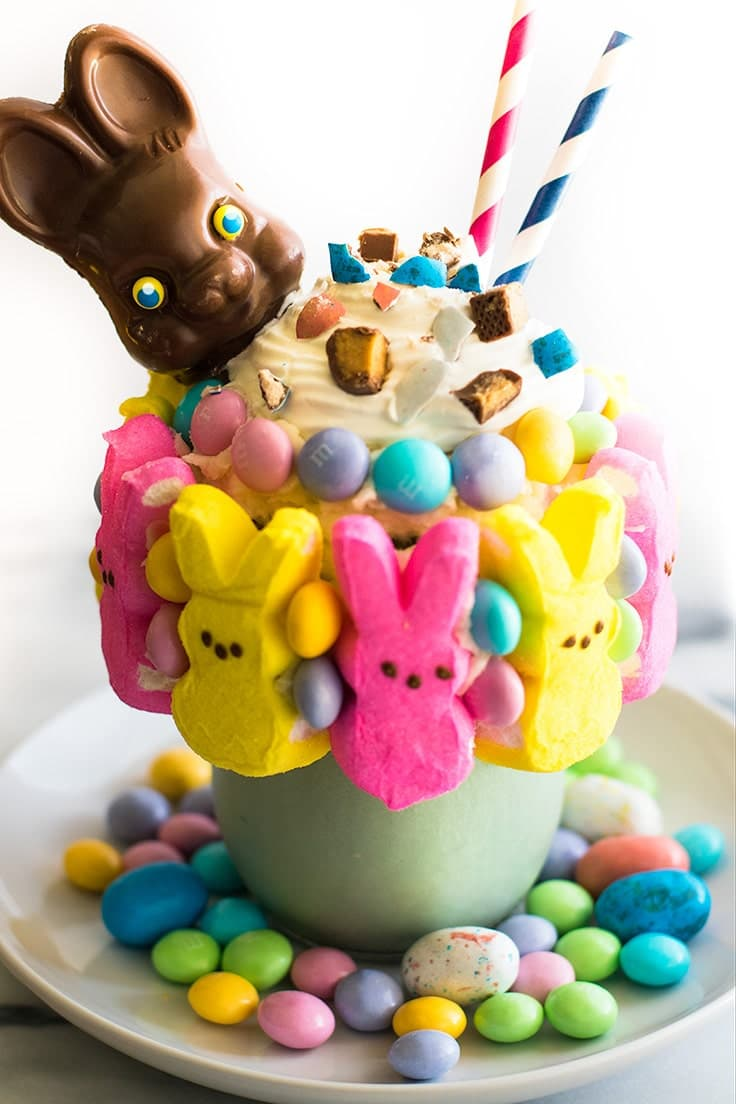 Leftover Easter Candy Freakshake from Baking Mischief