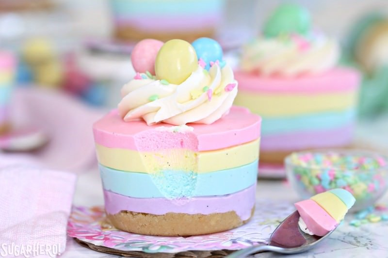 Easter No-Bake Mini Cheesecakes from Sugar Hero!