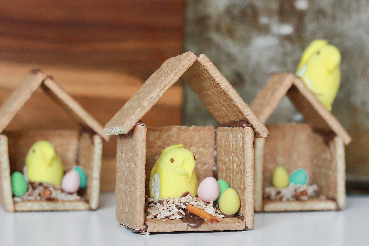 Graham Cracker Easter Bird Houses from Kitchen Trials