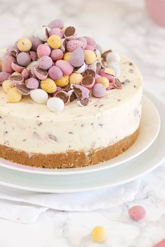 No Bake Mini Egg Cheesecake from Taming Twins