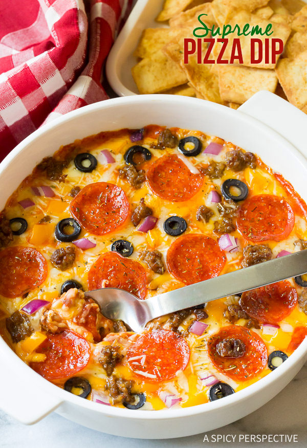 Supreme Pizza Dip from A Spicy Perspective