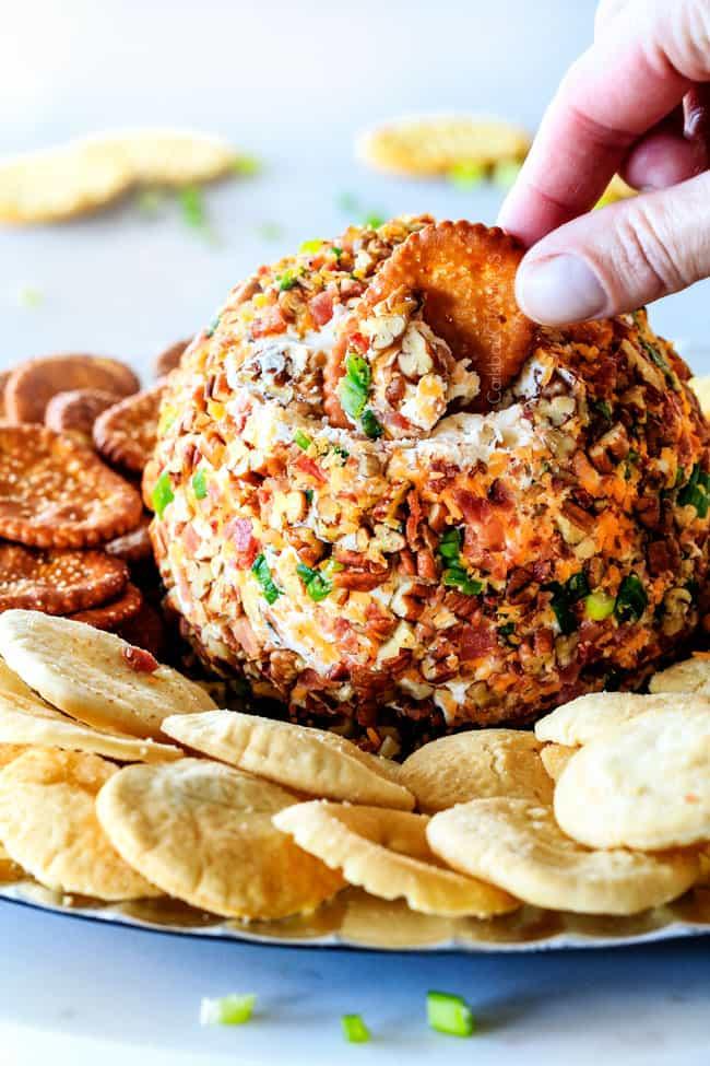 Bacon Ranch Cheese Ball from Carlsbad Cravings