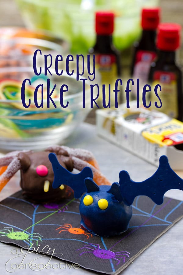 Creepy Crawly Cake Truffles from A Spicy Perspective