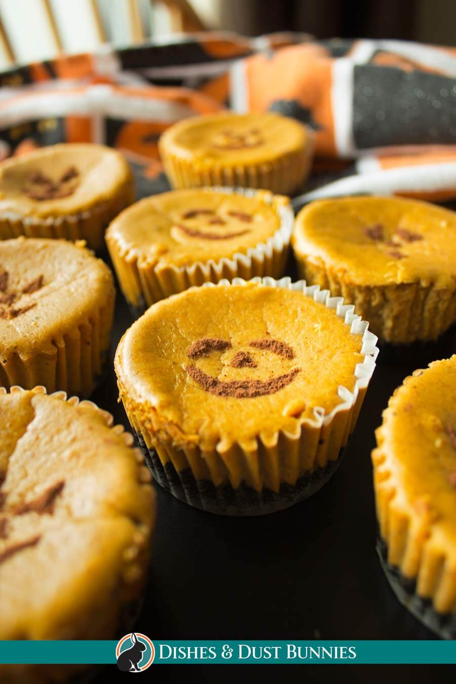Pumpkin Cheesecake Jack-O-Lanterns