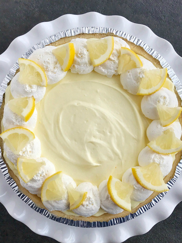 Lemon Cheesecake Cream Pie from Together as Family