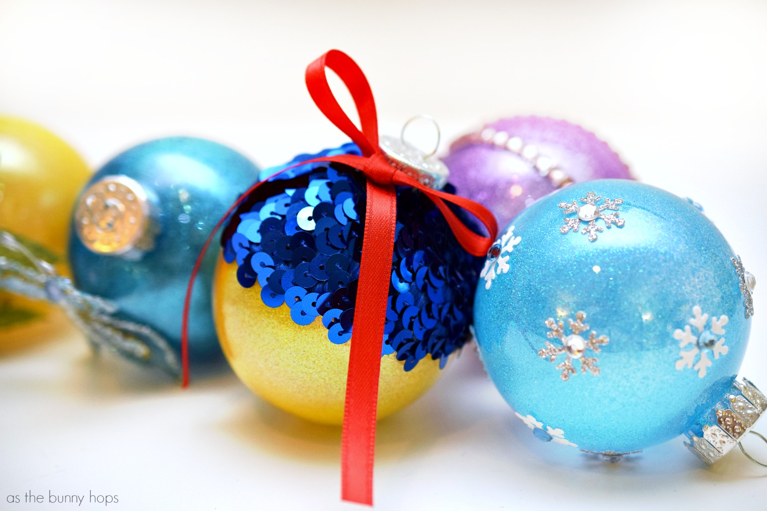 Disney Princess-Inspired Christmas Ornaments from As The Bunny Hops