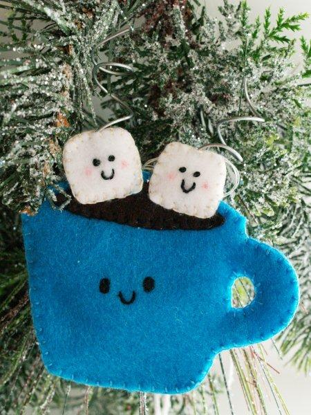 Felt Hot Cocoa Ornament from Flamingo Toes