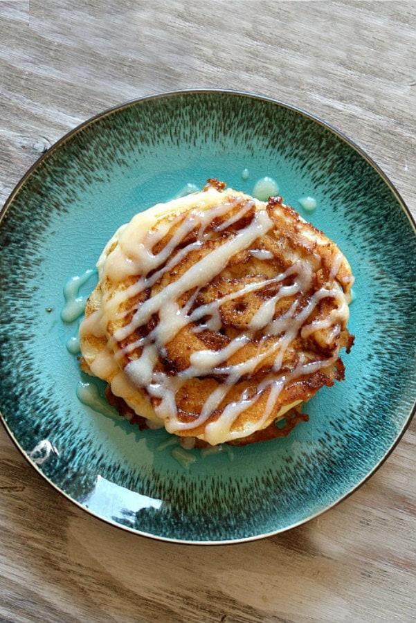 Cinnamon Roll Pancakes from Recipe Girl