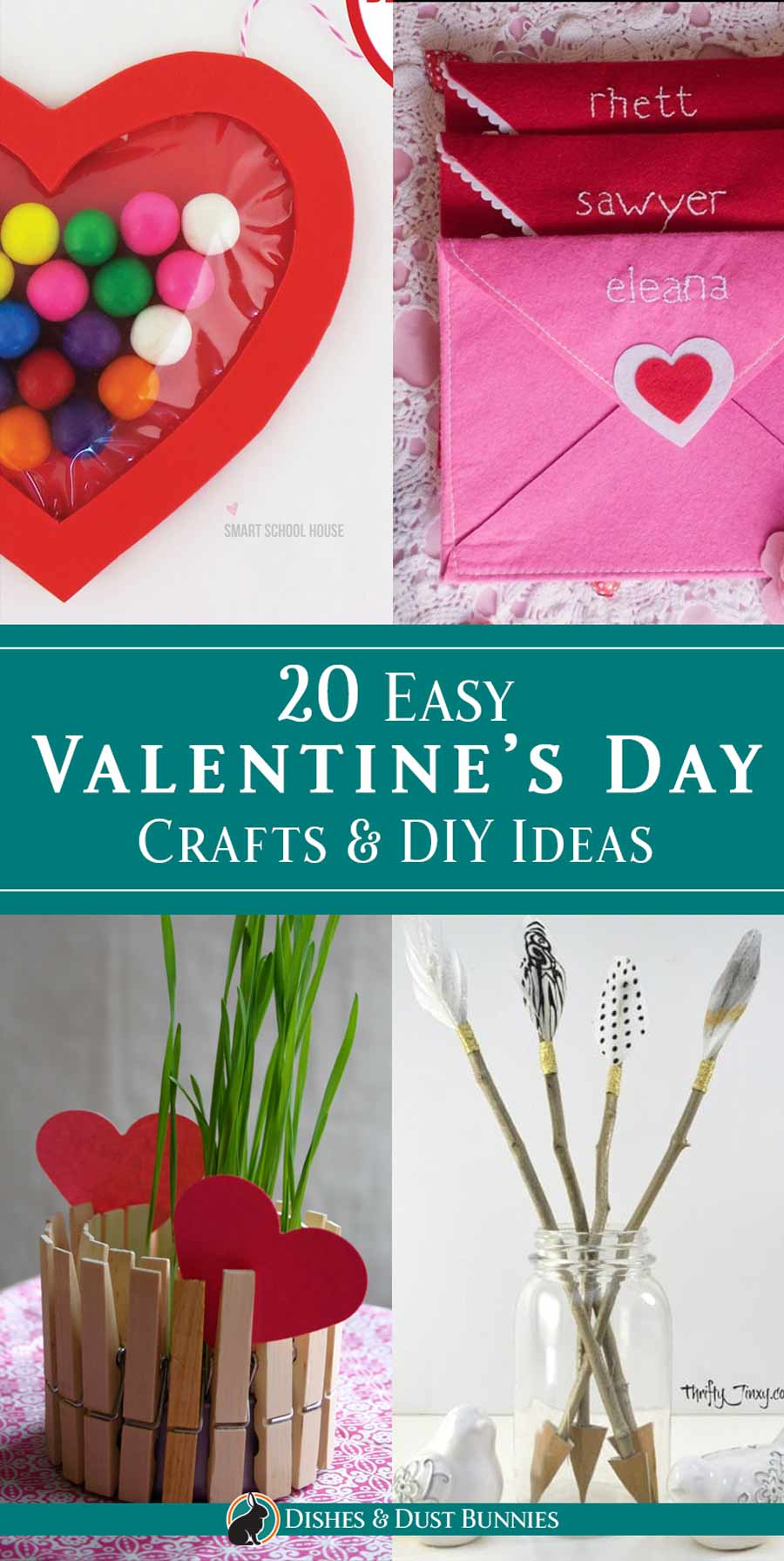 04374a08078 20 Easy Valentine's Day Crafts & DIY Ideas - Dishes & Dust Bunnies