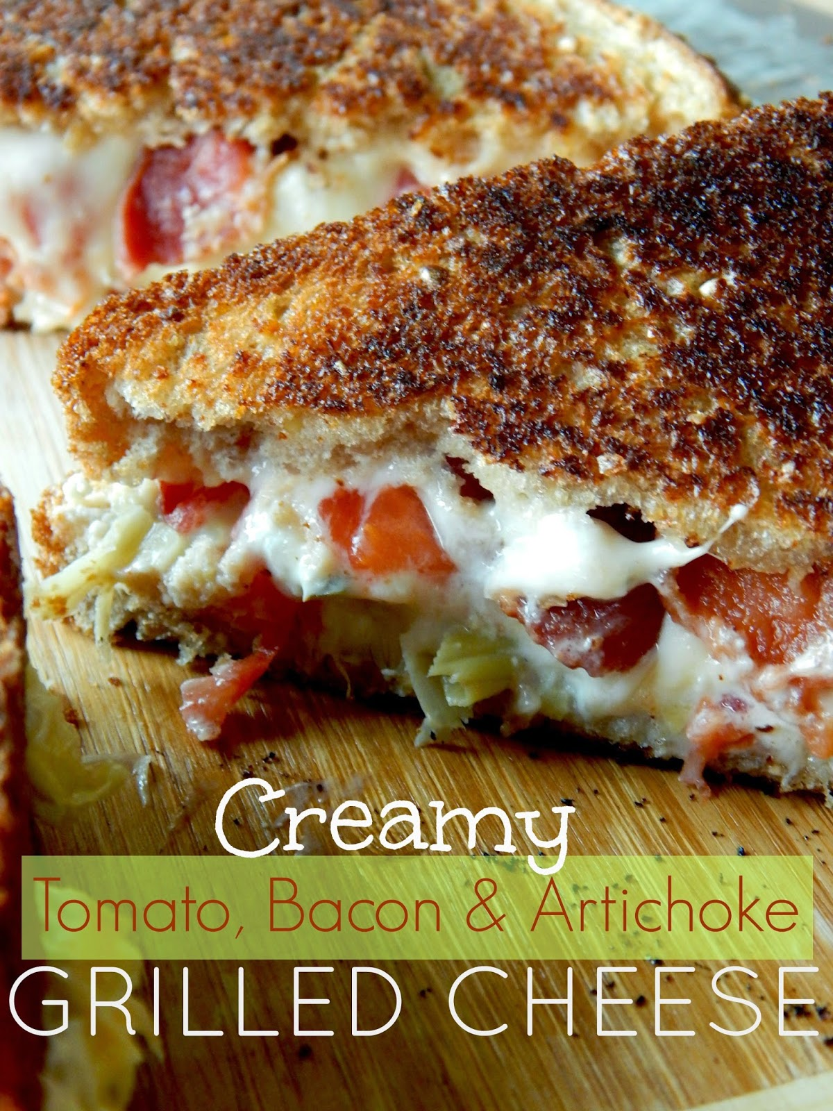 Creamy Tomato, Bacon and Artichoke Grilled Cheese Sandwiches from Ally's Sweet and Savory Eats