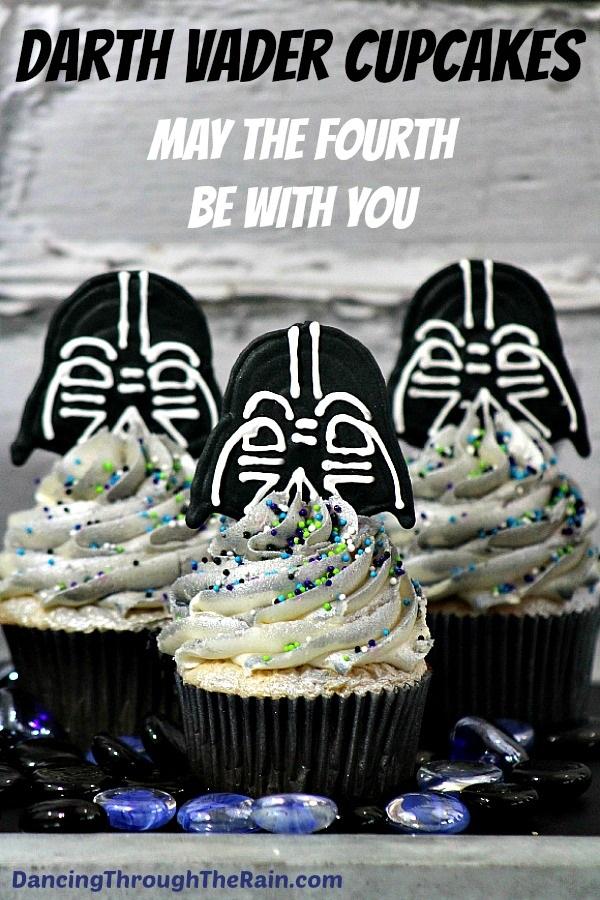 Darth Vader Cupcakes from Dancing Through the Rain