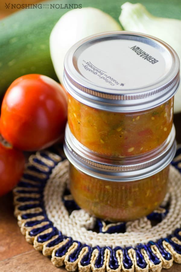 Garden Fresh Zucchini Salsa from Noshing with the Nolands