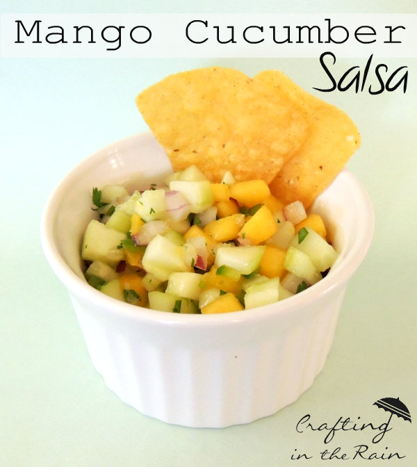 Mango Cucumber Salsa from Crafting in the Rain