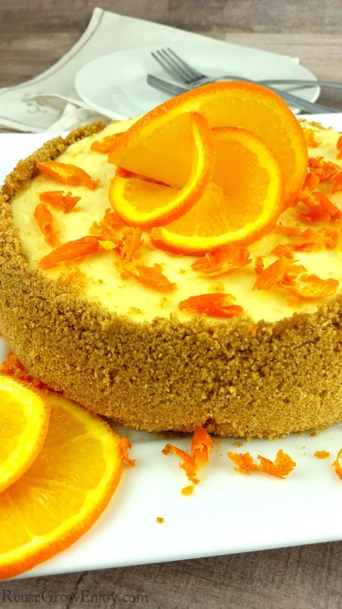 Orange Instant Pot Cheesecake from Reuse Grow Enjoy