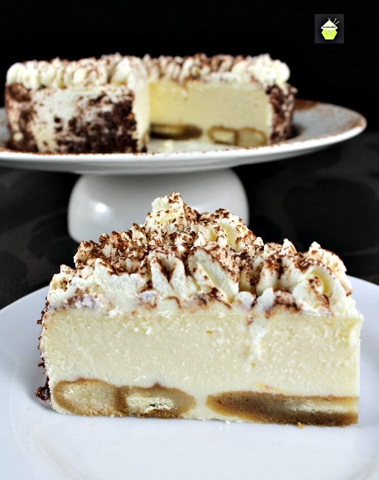 Creamy Tiramisu Cheesecake from LoveFoodies