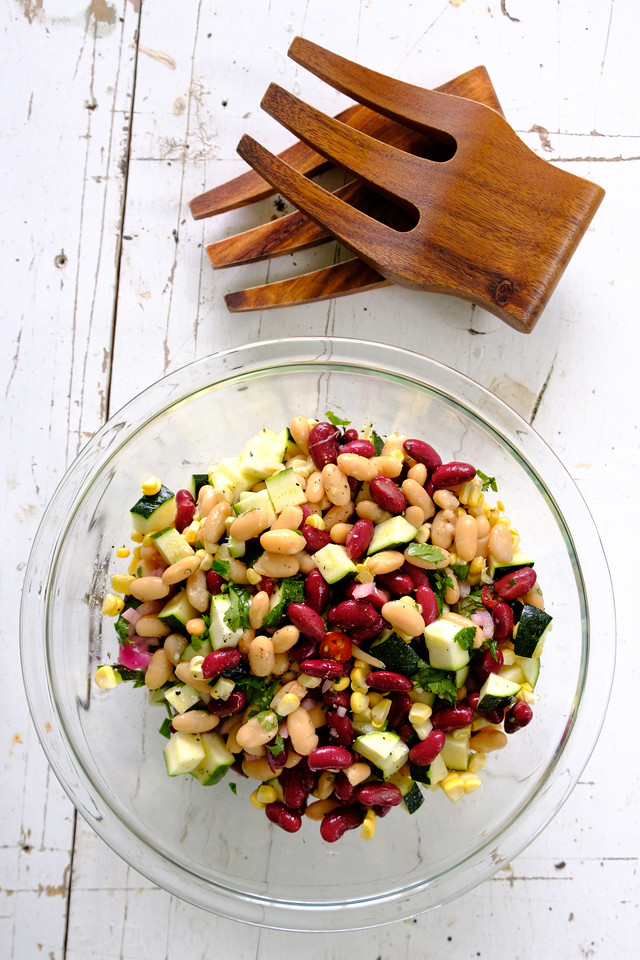 Zucchini, Corn and Bean Salad from Sidewalk Shoes
