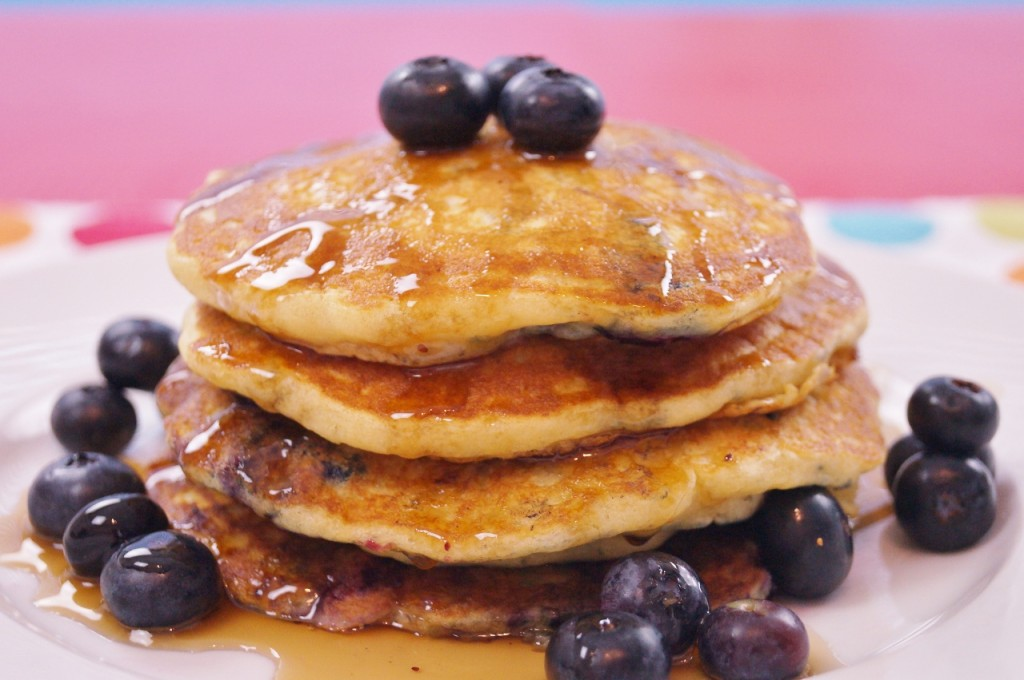 Blueberry Pancakes From Scratch! Mom's Best Recipe
