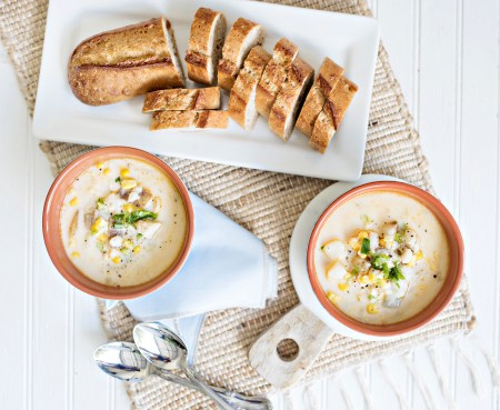 seafood leftovers - Cod and Clam Chowder