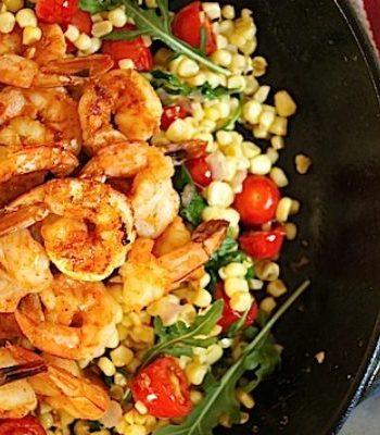 Spiced Shrimp with Corn Salad