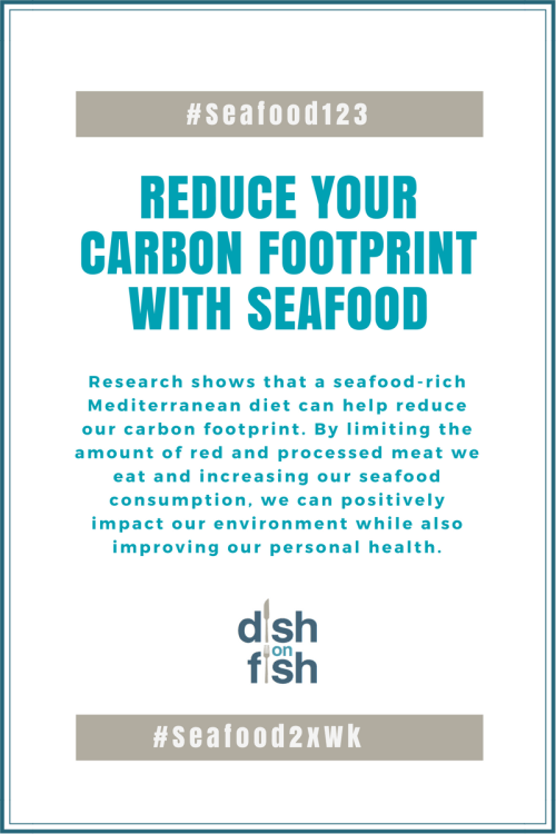 Reduce your carbon footprint with seafood!