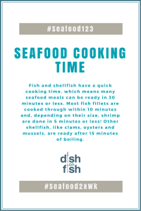 #Seafood123 Seafood Cooking Time