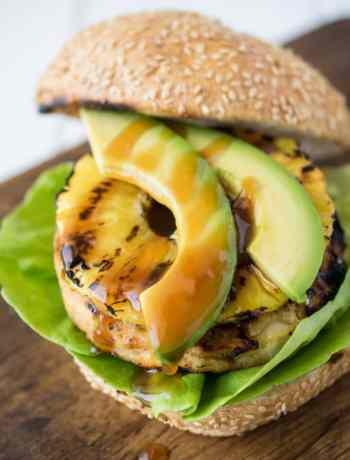 Grilled Alaskan Pollock Teriyaki Pineapple Burger
