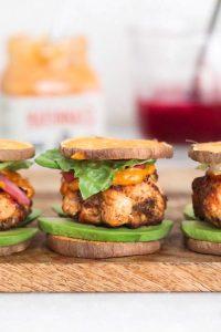 sweet potato salmon-burgers