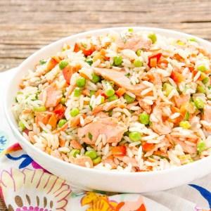 Grilled-Salmon-Rice-Salad