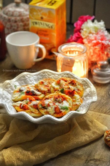 Seafood Pizza - Mini prawn white pizza