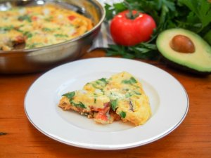 Bacon and lobster omelette