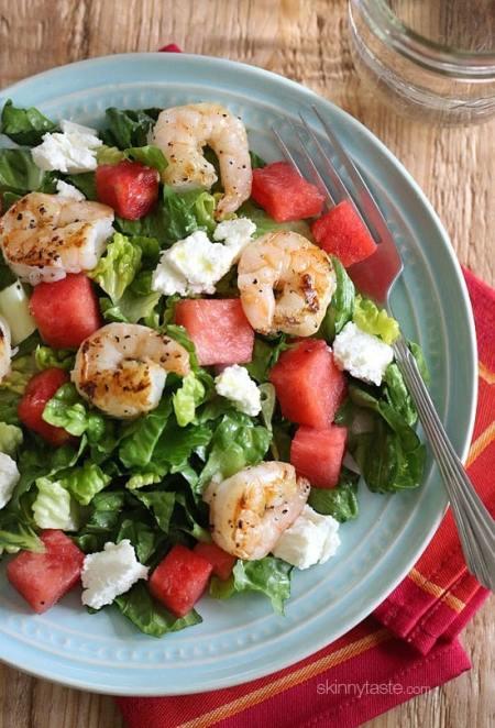 Mediterranean Diet  - Grilled shrimp salad