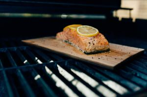 Lemon salmon in the oven