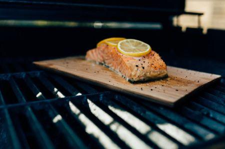 salmon gyros - Lemon salmon in the oven