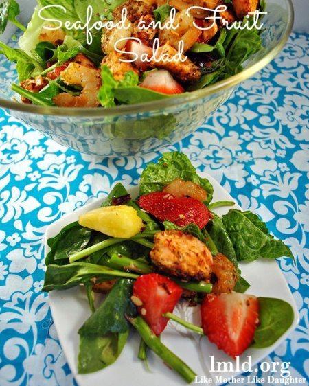 seafood meal plan - salad