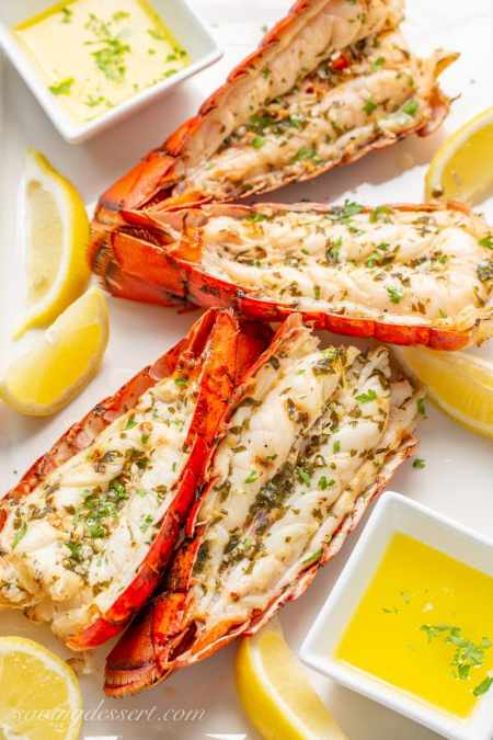 grilled seafood recipes- lobster tails