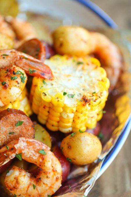 grilled seafood recipes- Shrimp boil