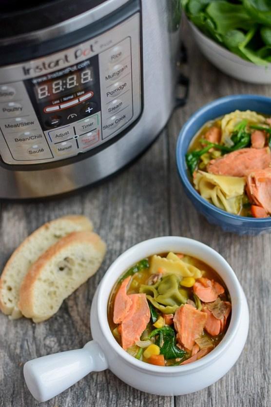 Instant pot salmon soup