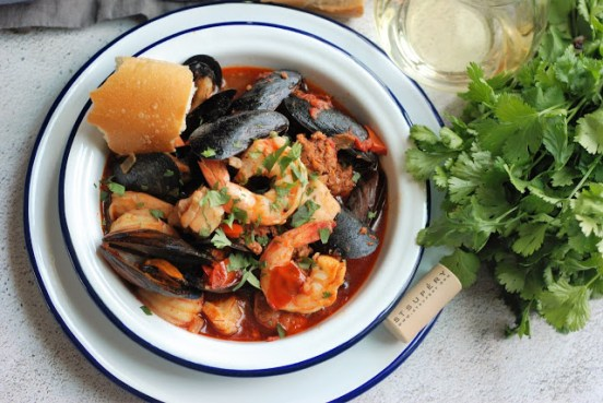 seafood soup and stew