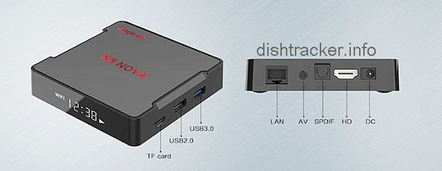 Using the USB ports, you can connect devices to the TV box. Like a USB flash drive, keyboard, mouse or gamepad.