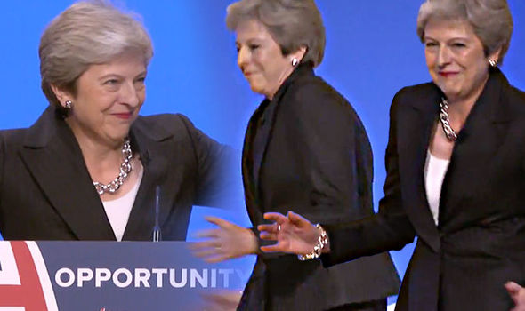 Theresa May opens party conference speech with dance moves to classic ABBA'S 'Dancing Queen' of the 70's. – video