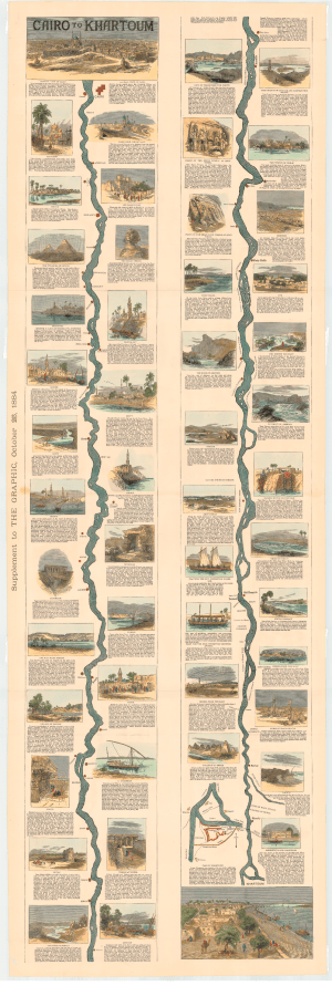 Anon, From Cairo to Khartoum, The Graphic Weekly Supplement (October 25, 1884), Institut Cartogràfic i Geològic de Catalunya (RM.220322)