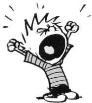 cartoon of Calvin screaming
