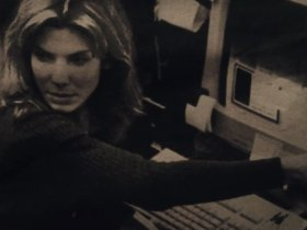 net neutrality. screenshot of Sandra Bullock and an old computer.