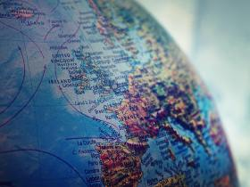 Fugitivity close up of a globe