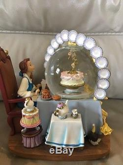 Disney Beauty And The Beast Snowglobe Be Our Guest Music Box