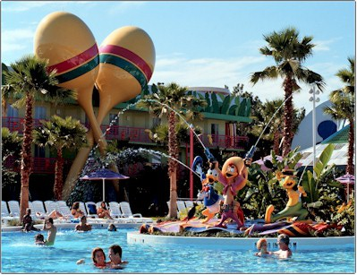 "Which resorts are ""on site"" at Walt Disney World?"