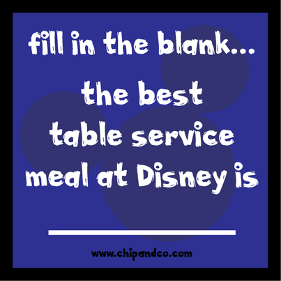 What is the best table service restaurant in Magic Kingdom?